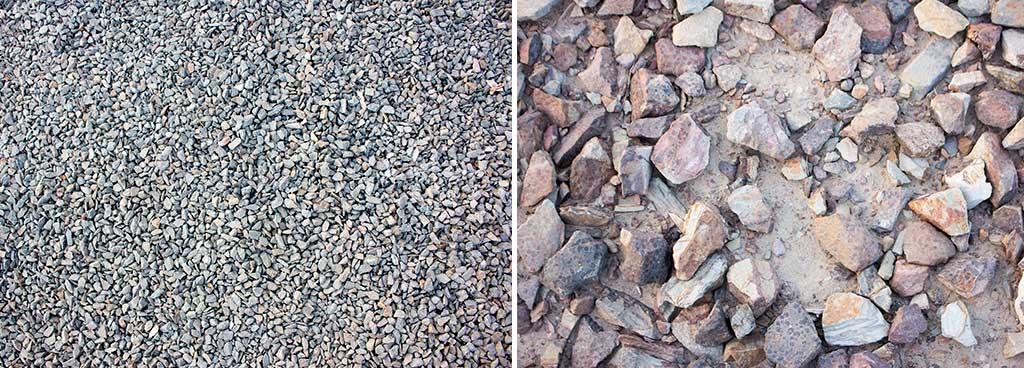 ghiaia e pietra