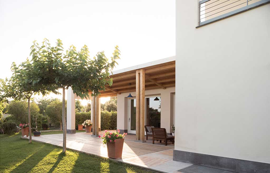 giardino portico villa