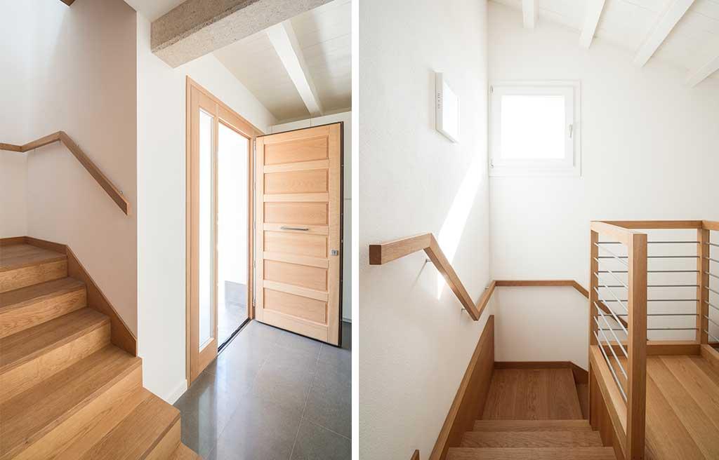 ingresso e scala legno casa