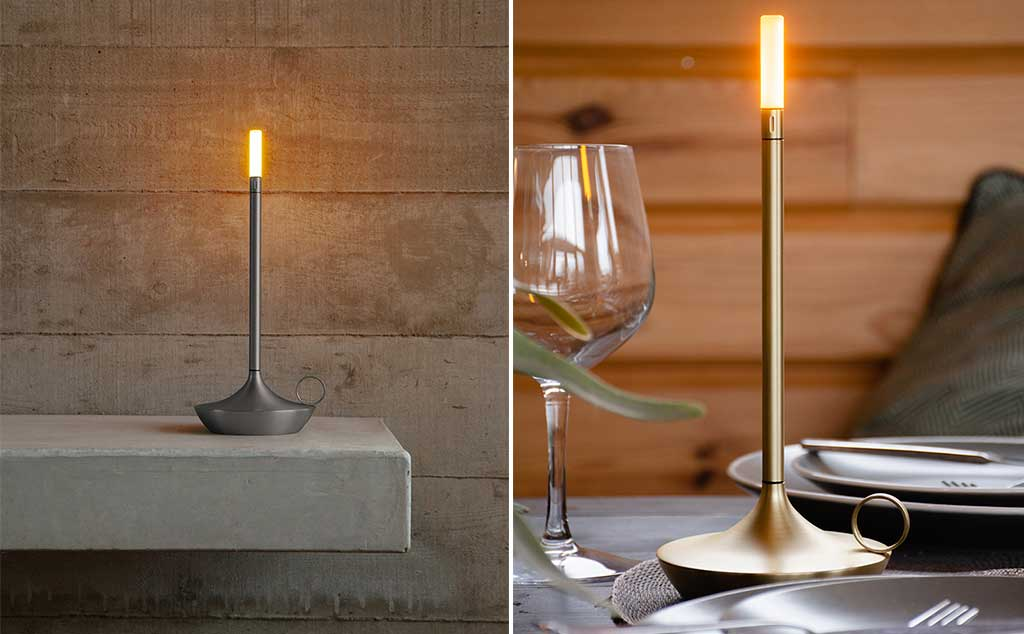 lampada portatile candela led