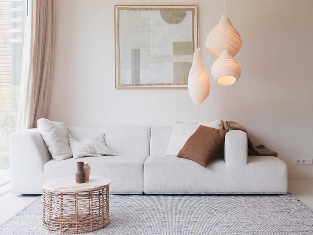 lampadari cartone bianco