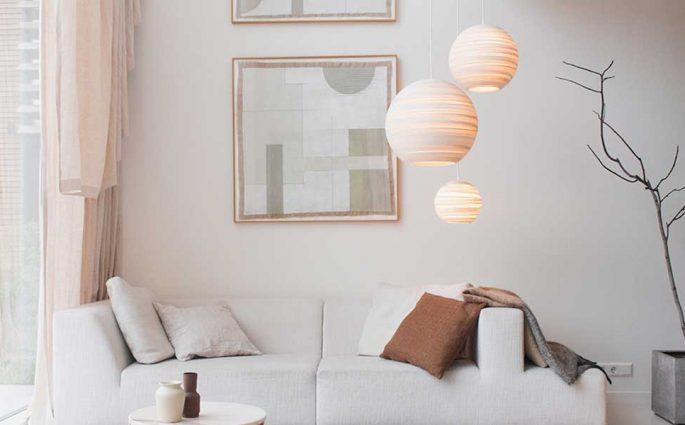 lampadari cartone riciclato design