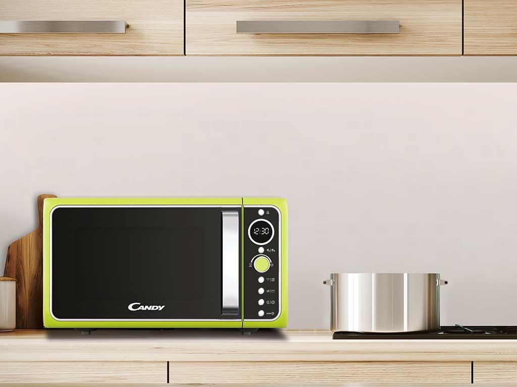 microonde verde fluo top cucina
