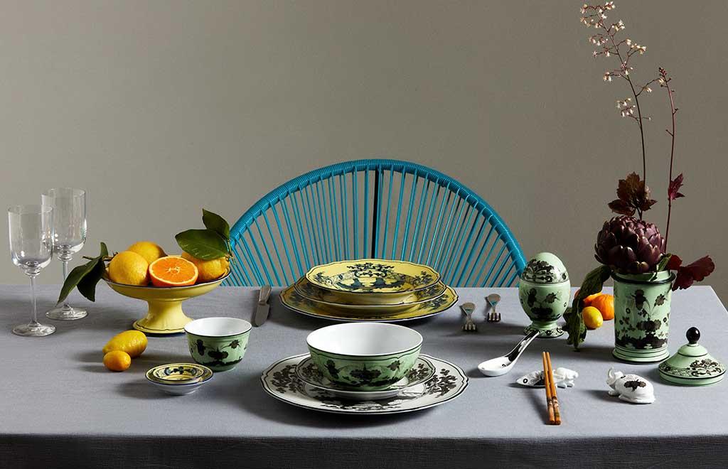 piatti colorati decoro orientale