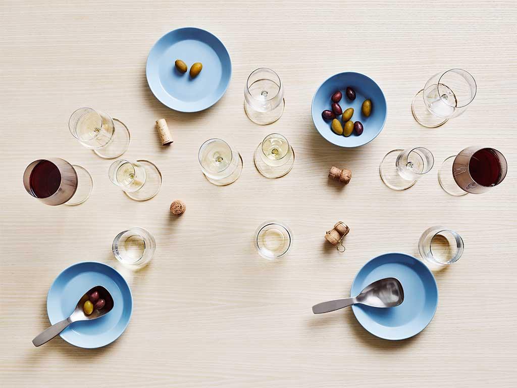 piattini ciotole azzurro pastello