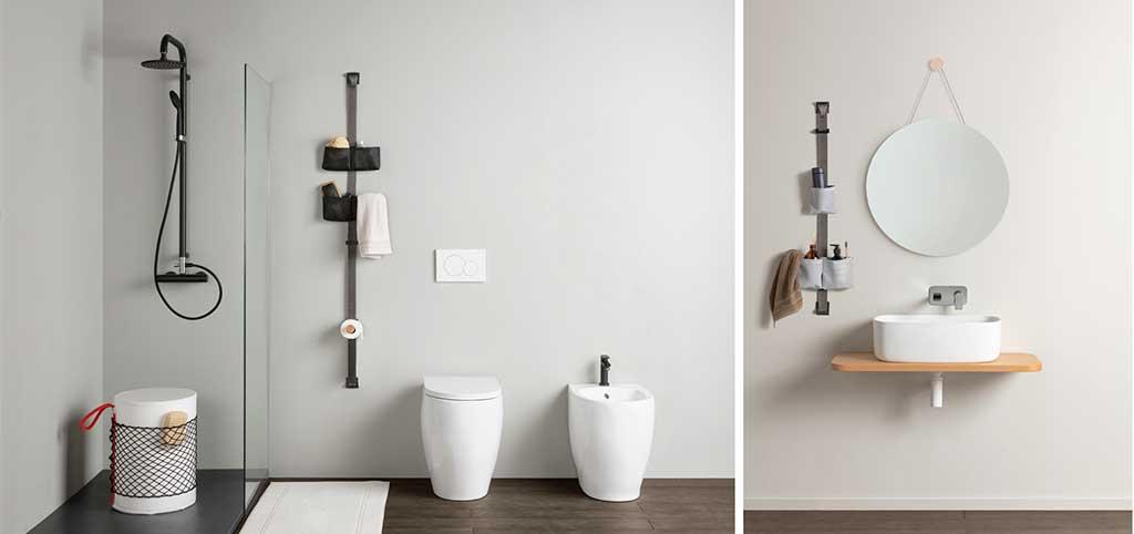 porta accessori bagno parete