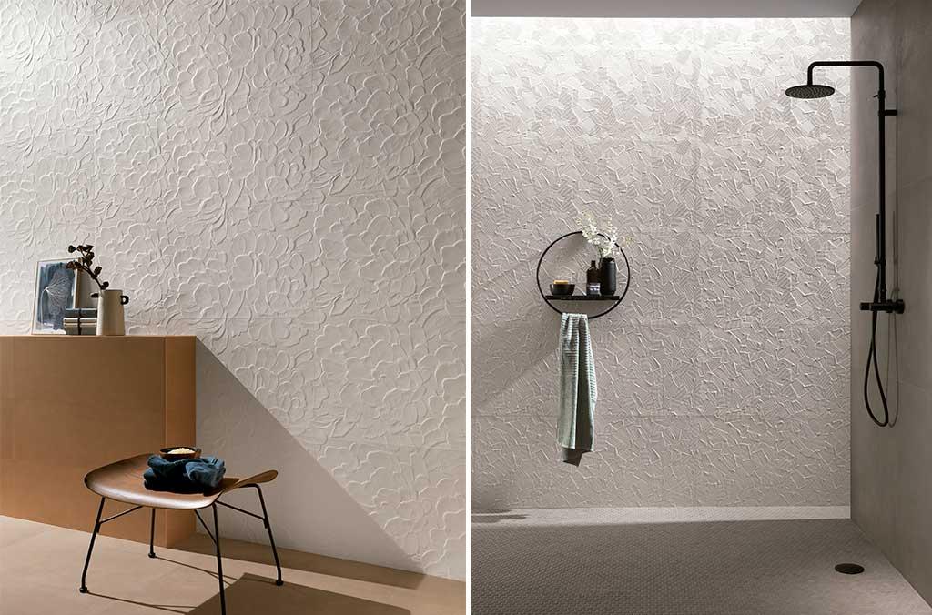 rivestimento pareti chiaro tridimensionale