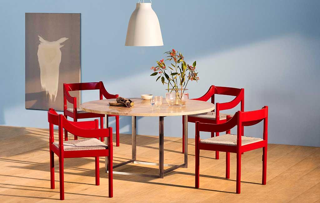 sedia rossa scandinavia