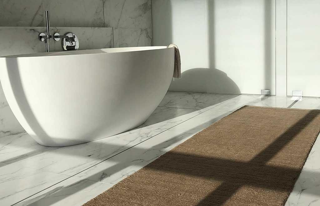 tappeto per il bagno rettangolare