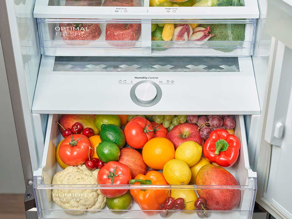 cassetti frigorifero a temperatura e umidita controllate