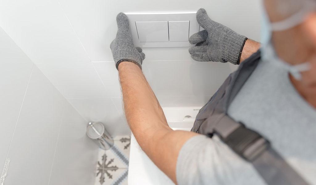 installazione scarico wc dual flush