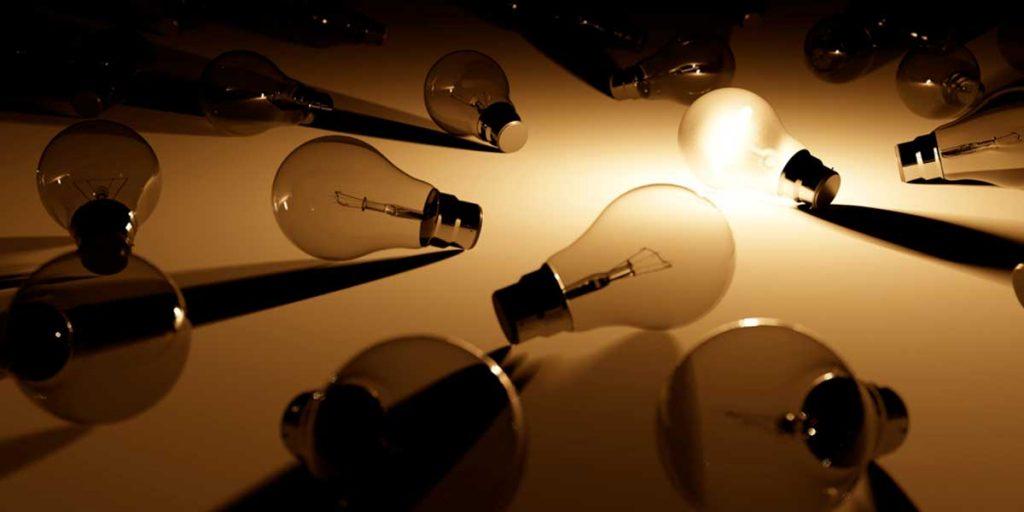 lampadine accese e spente
