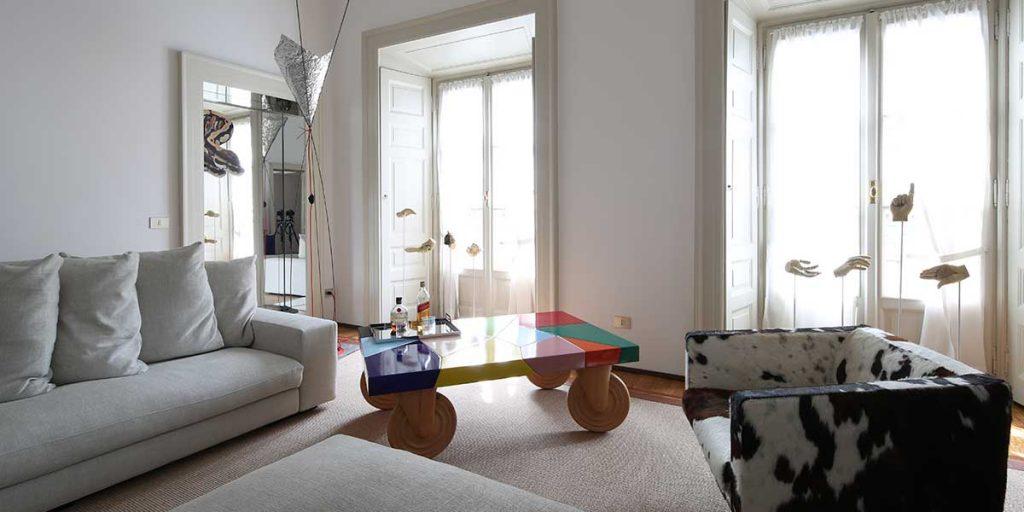 living ristrutturato palazzo belgioioso