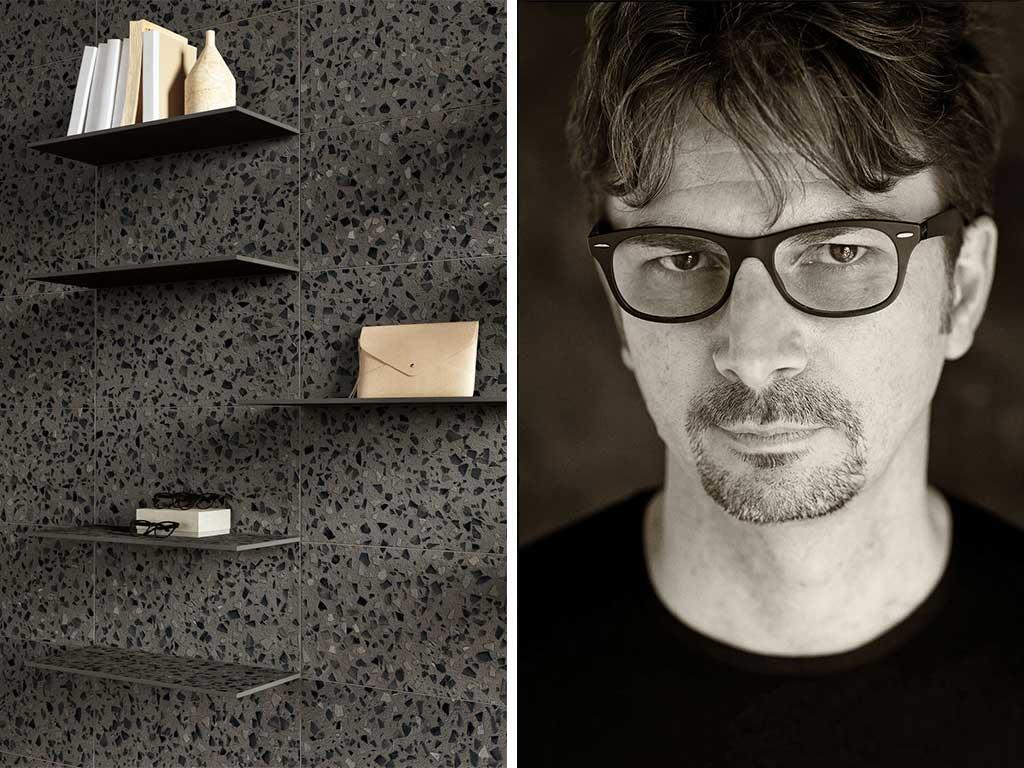 mensola gres porcellanato designer Paolo benevelli