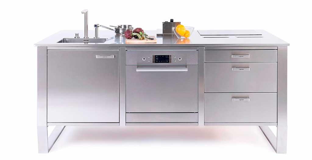 modulo cucina acciaio