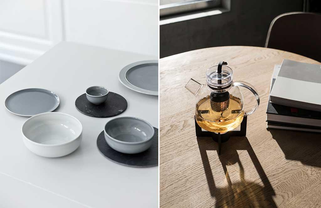 piatti ceramica e teiera design