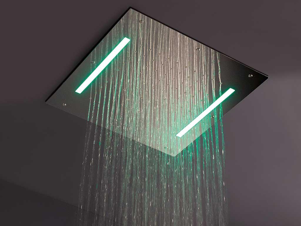 soffione doccia quadrato soffitto