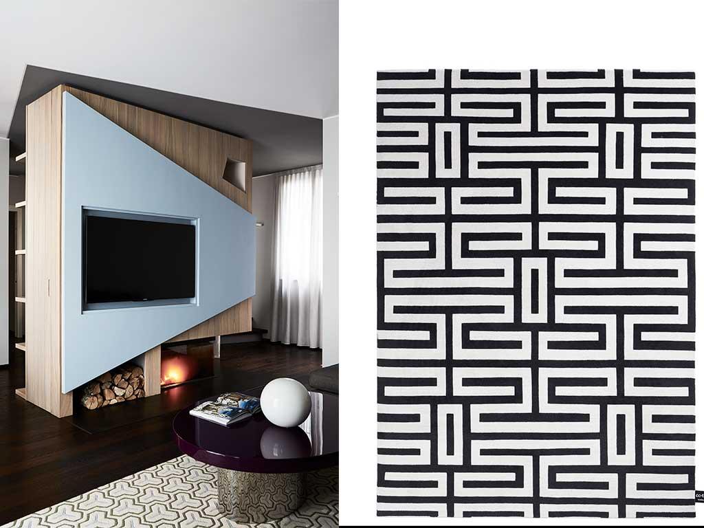 termocamino e tappeto design