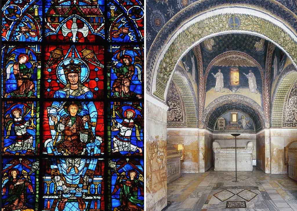 vetrata cattedrale e mausoleo galla placidia