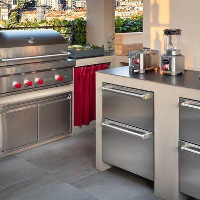 cucina da esterno barbecue