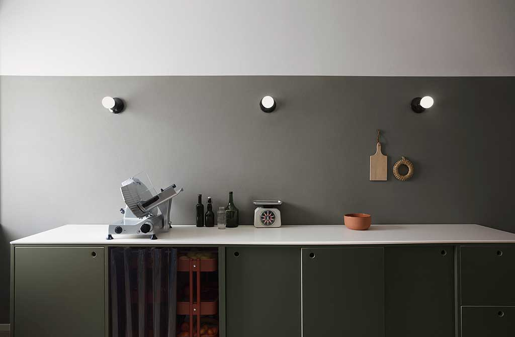 cucina su misura con tendina pvc
