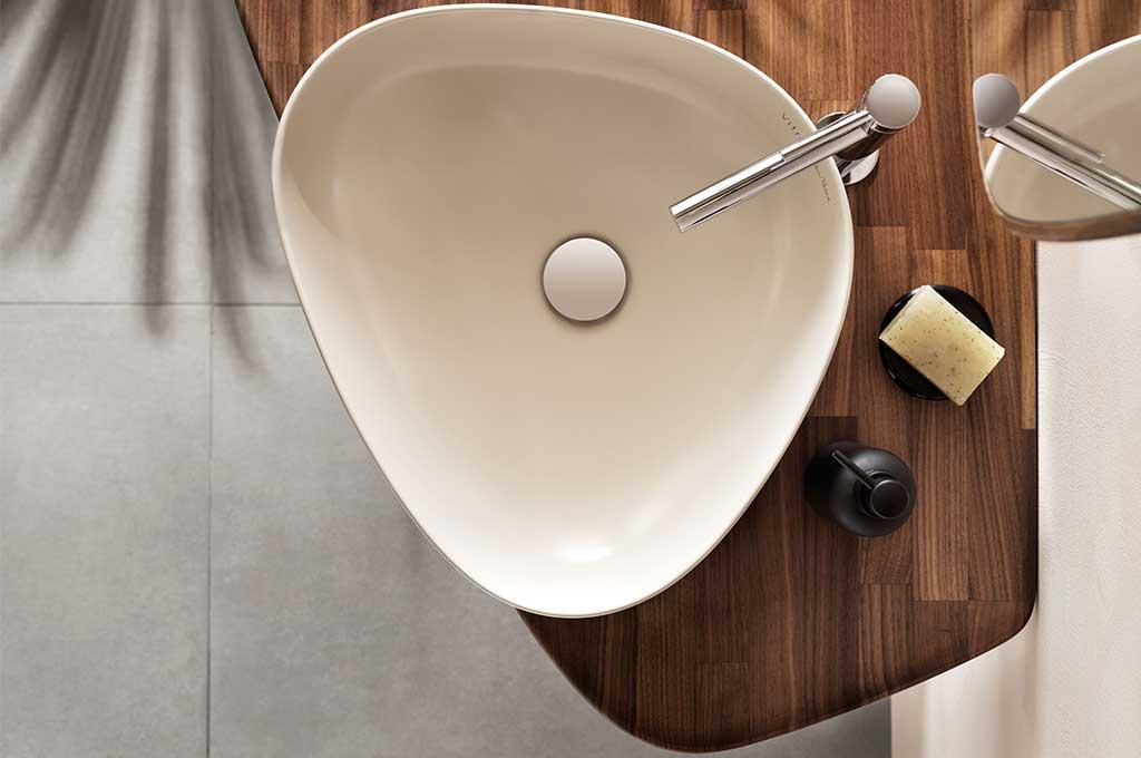 lavabo appoggio forma goccia