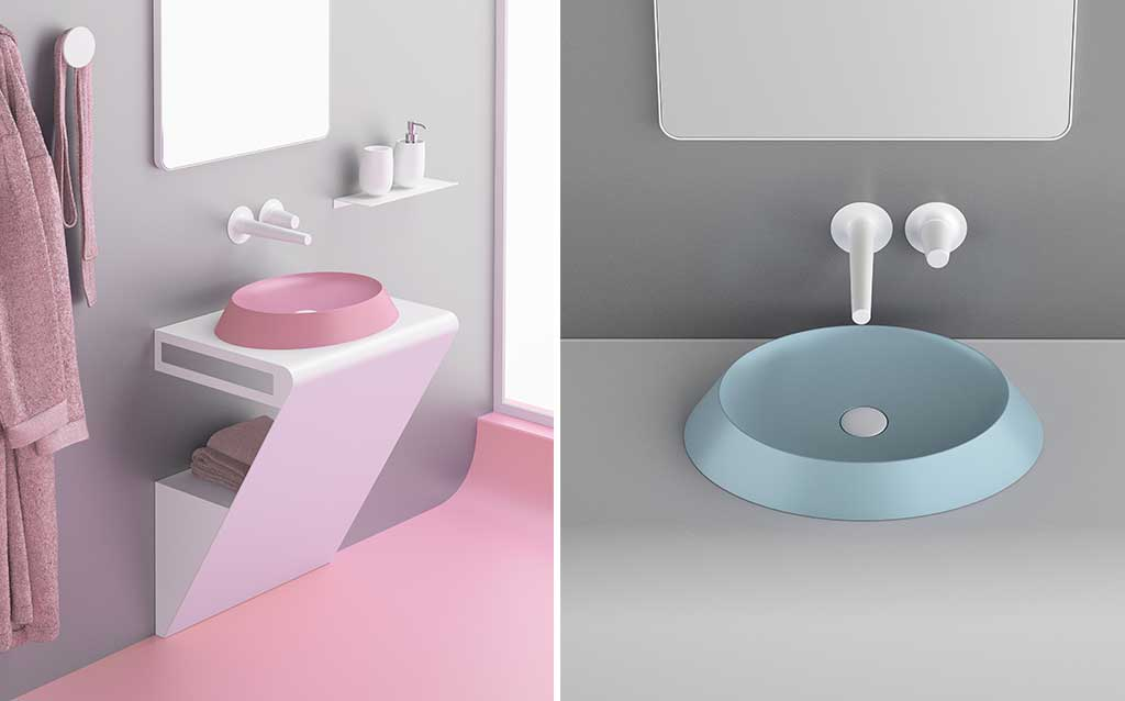 mini lavabo rotondo