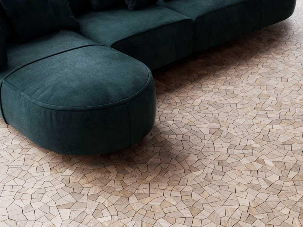pavimento legno mosaico