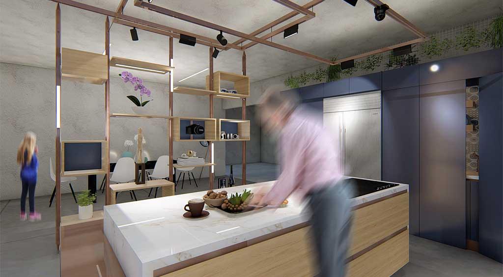 progetto cucina kustom