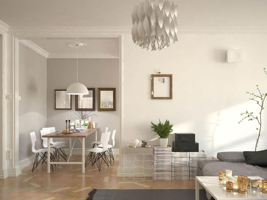 purificatore aria indoor parete