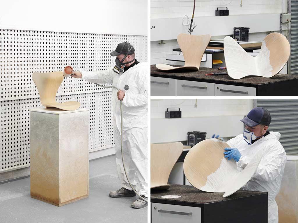 restauro sedia di design