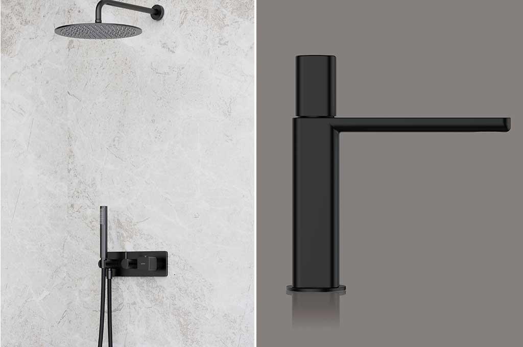 rubinetti bagno nero