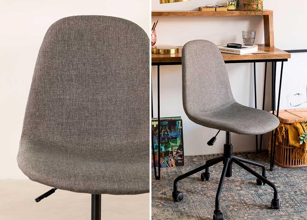 sedia girevole grigio chiaro