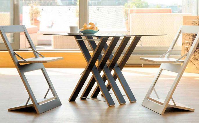 sedie e tavolo pieghevoli