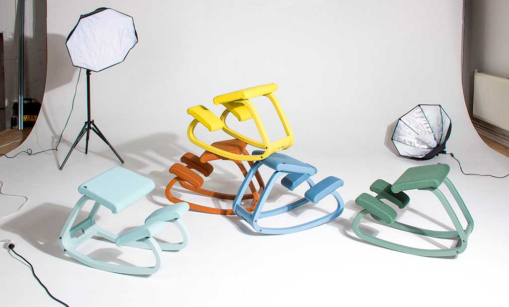 sedute ergonomiche colorate