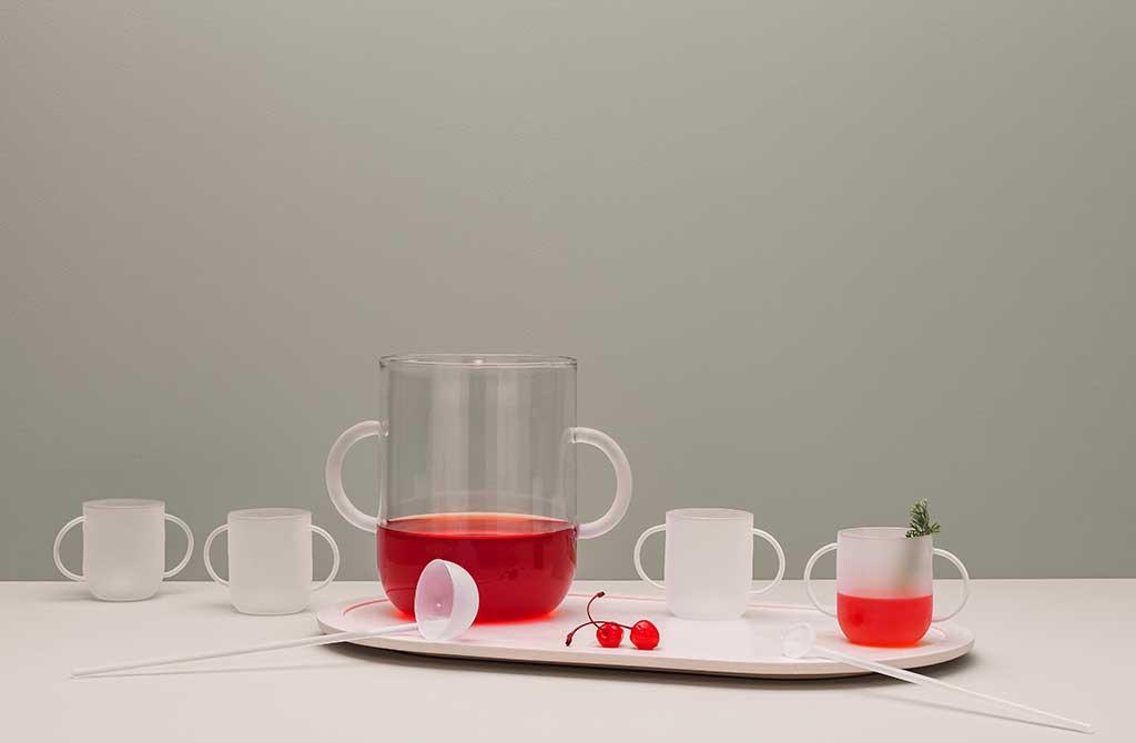 set punch vetro borosilicato design
