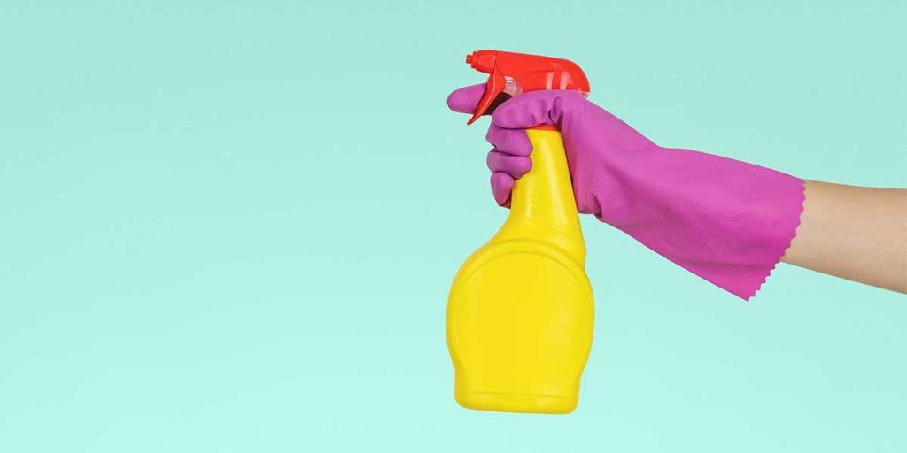 spruzzino colorato mano guanto donna
