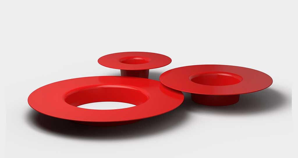 tavolini rossi todd bracher