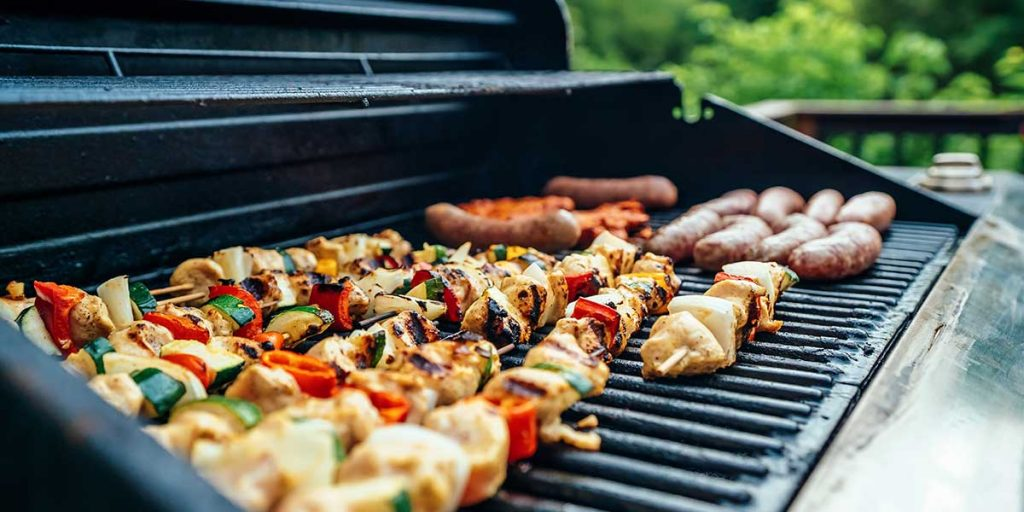 barbecue carne piastra