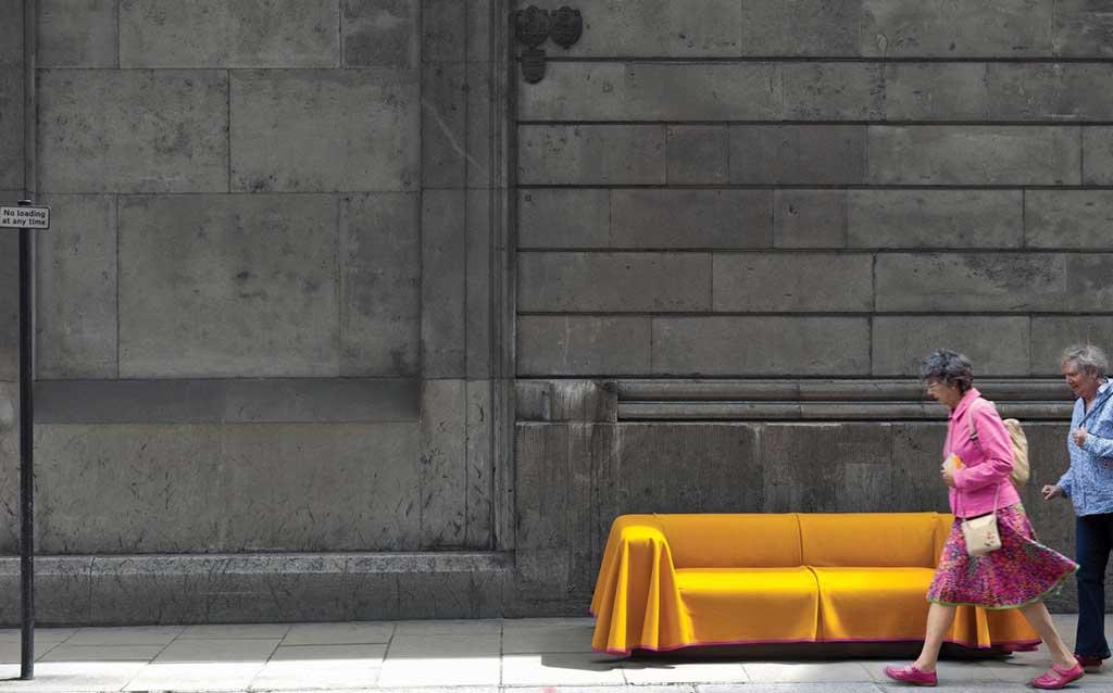 divano sfoderabile giallo