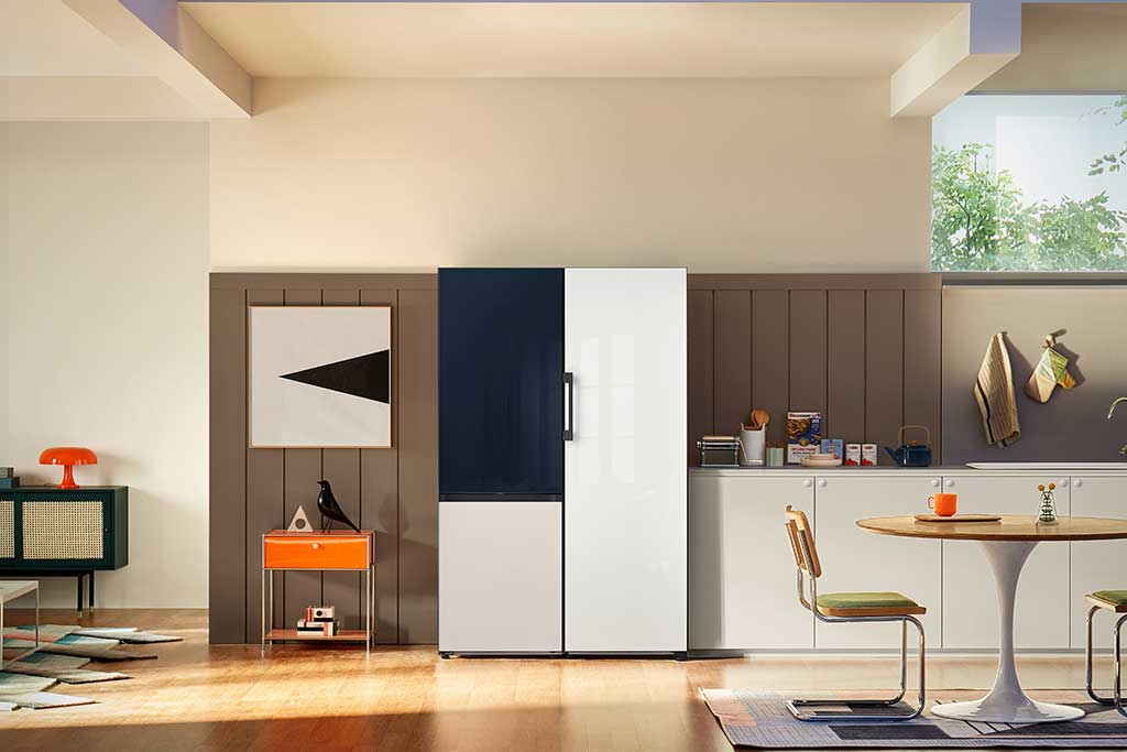 frigorifero su misura bianco e nero