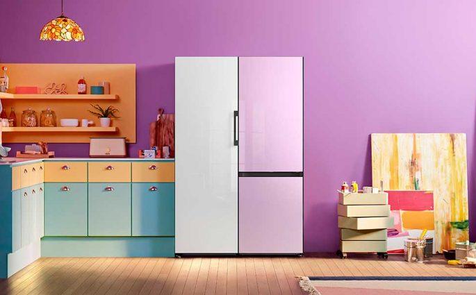 frigorifero modulare pannelli vetro colorato