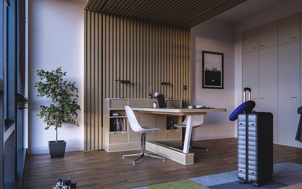parete tavolo scrivania