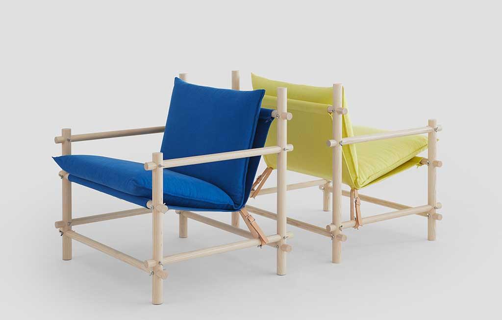 sedie legno cuscini