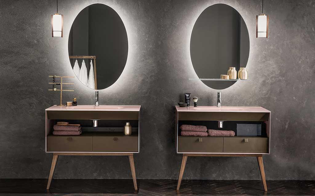 specchi ovali bagno retroilluminati