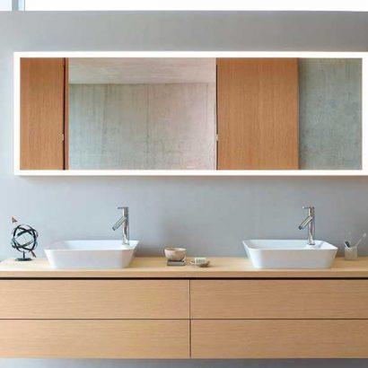 specchio bagno doppio rettangolare