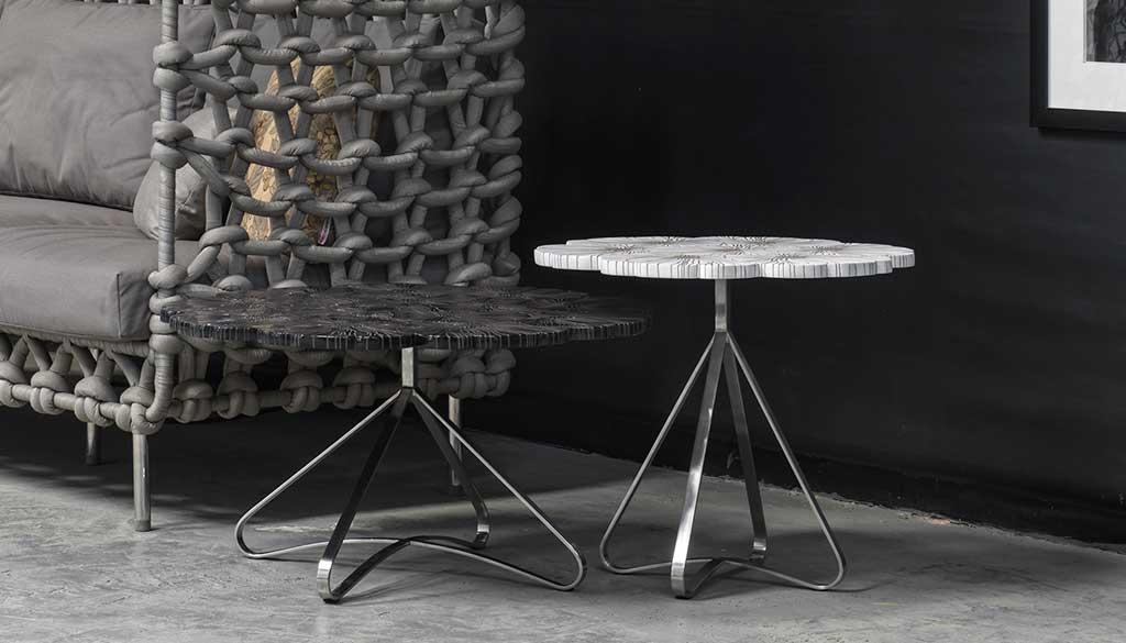 tavolini bassi tondi base metallo