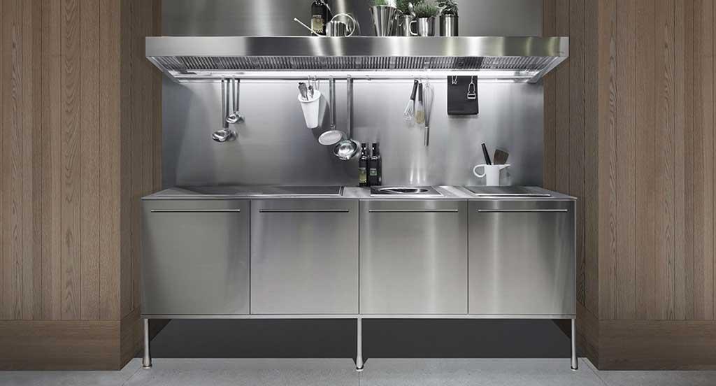 cucina monoblocco acciaio inox