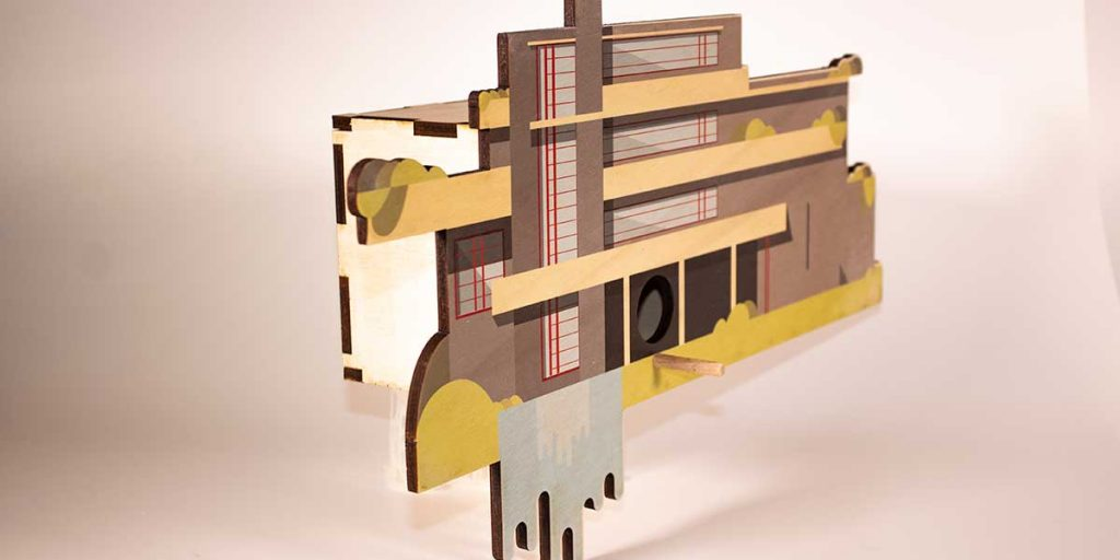 falling water house per uccelli