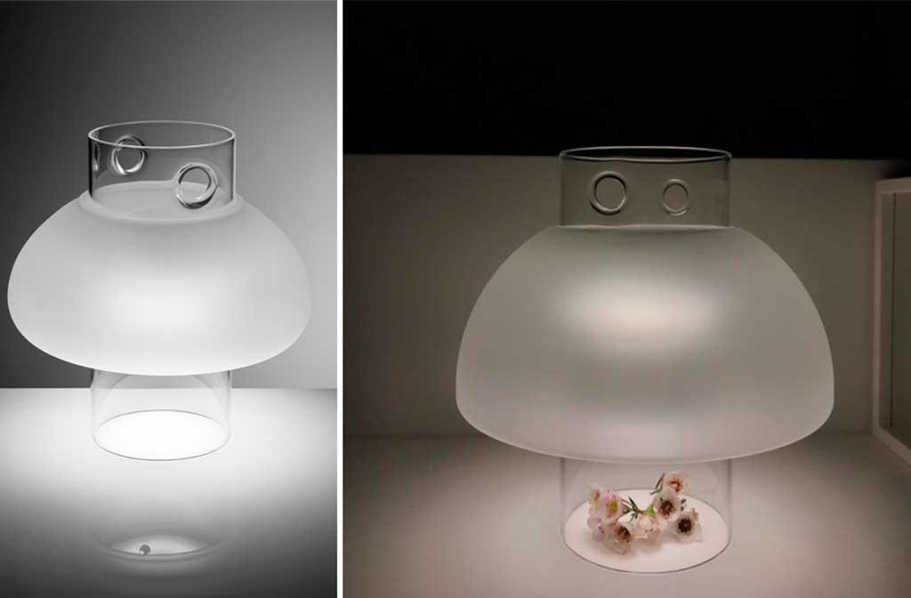 lampada vetro satinato